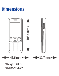 Nokia 6300 Tech Spec